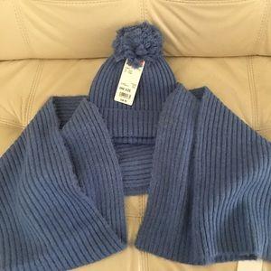 Uniqlo women souffle yarn knitted scarf & beanie